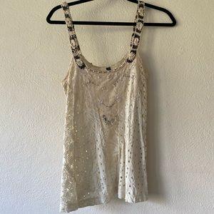 Beaded broderie anglaise camisole